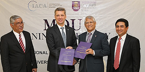 Usaha banteras rasuah global - UiTM-IACA jalin kerjasama didik graduan tangani rasuah