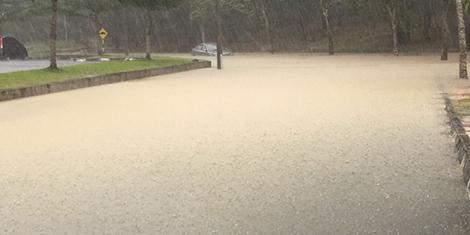 UiTM Kampus Lendu Banjir Berikutan Hujan Lebat Berterusan