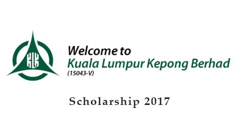 Biasiswa Yayasan Kuala Lumpur Kepong Berhad 2017