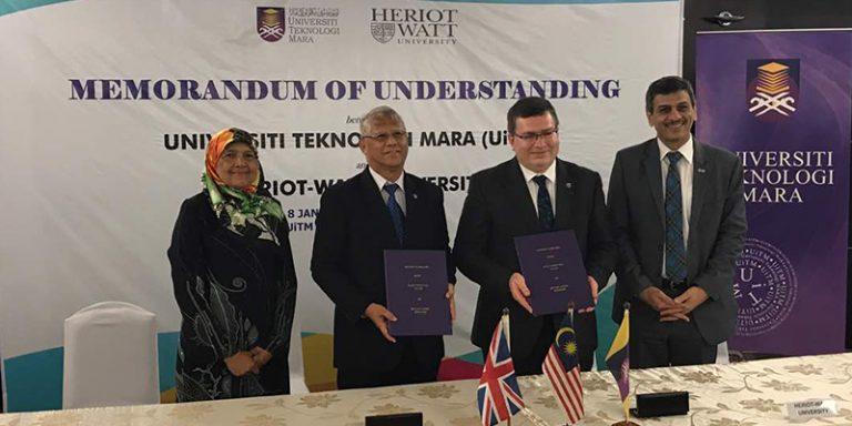 UiTM dan Heriot-Watt University Tandatangani MoU Kerjasama Perbankan Islam